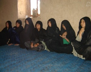 Group of sitting women in Afghanistan
