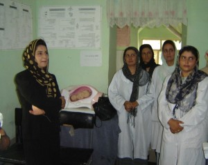 Women in a learning center