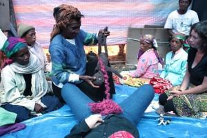 Woman teaching a midwife class