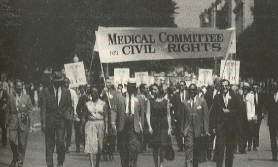 A snapshot from the March on Washington, which included the precursor to MCHR, the Medical Committee for Civil Rights.