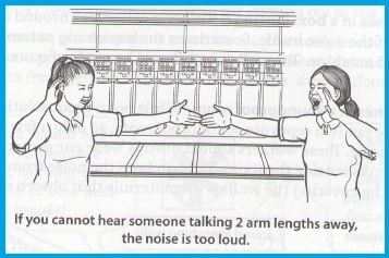 """How to tell if noise is too loud,"" p. 225"