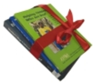 Photo of books wrapped with red ribbon