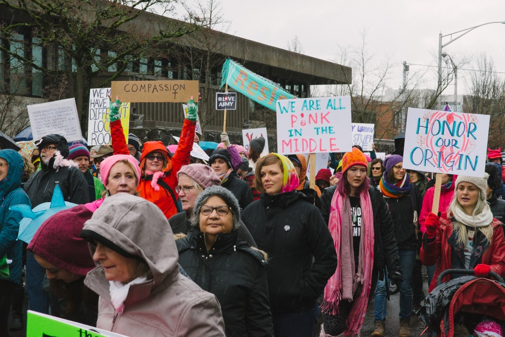 2017 Women's March in Eugene, OR.