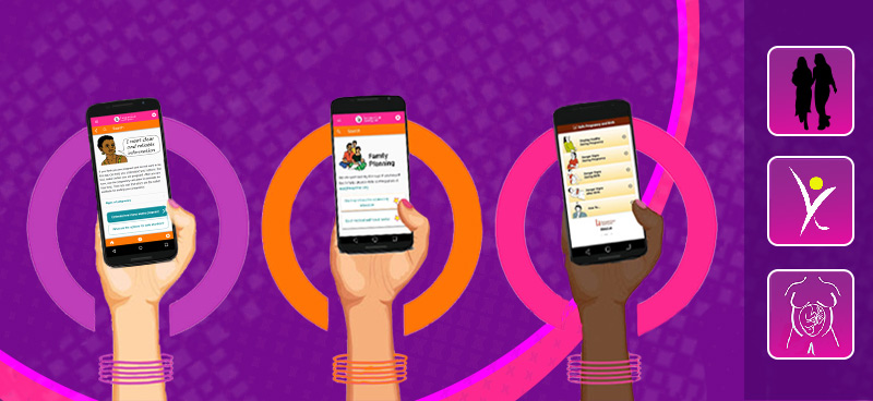 three reproductive health apps